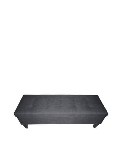 Sole Designs Brooke Loft Button-Tufted Storage Bench, Charcoal