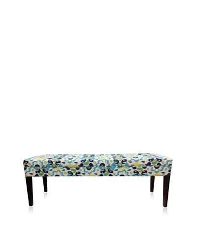 Sole Designs Flora Bench, Blue/Yellow
