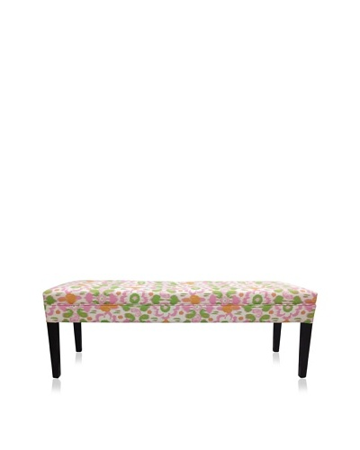 Sole Designs Daiy Flora Bench, Pink/Green/White