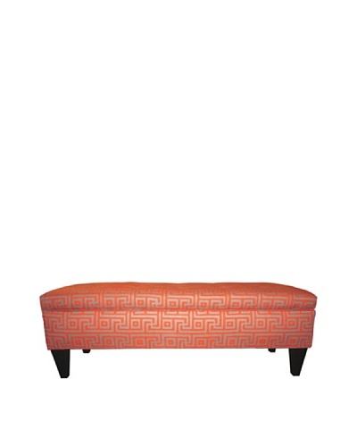 Sole Designs Brooke 10 Button Tufted Storage Bench, Greece Atomic