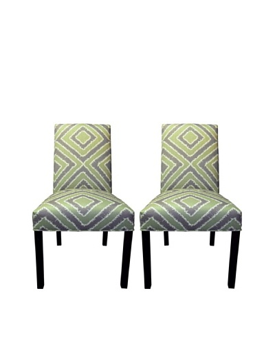 Sole Designs Straight Back Pair of Dining Chairs, Nouveau Amethyst