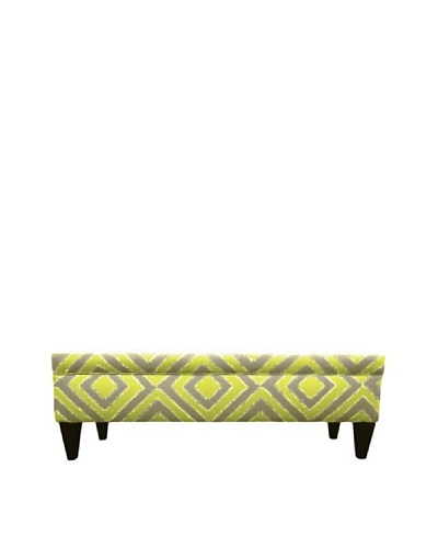 Sole Designs Brooke 10 Button Tufted Storage Bench, Nouveau Wassabi