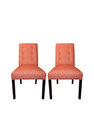 Sole Designs Kacey 6 Button Tufted Pair of Dining Chairs, Greece Atomic