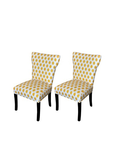 Sole Designs Bella Jojo Wingback Dining Chair, YellowAs You See