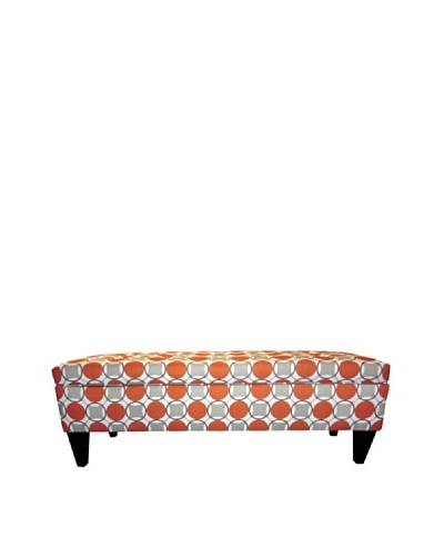 Sole Designs Brooke Button-Tufted Storage Bench, Halo Grani