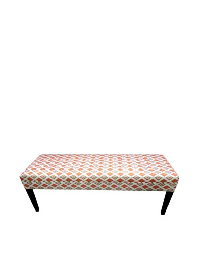 Sole Designs Orange Diamond Bench, Orange/Natural