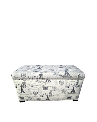 Sole Designs Angela Paris Match Storage Trunk, Onyx