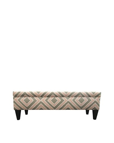 Sole Designs Brooke 10 Button Tufted Storage Bench, Nouveau Blush