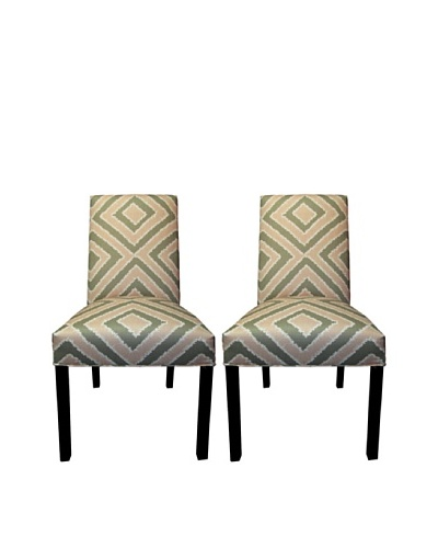 Sole Designs Straight Back Pair of Dining Chairs, Nouveau Blush