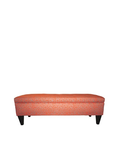 Sole Designs Brooke Button-Tufted Storage Bench, Greece Atomic