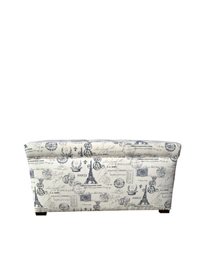 Sole Designs Angela Paris Match Storage Trunk, Blue