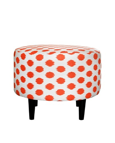 Sole Designs Sophia Jojo Round Ottoman, TangeloAs You See