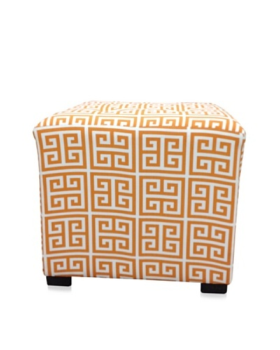 Sole Designs Amelia Chain Ottoman, Orange