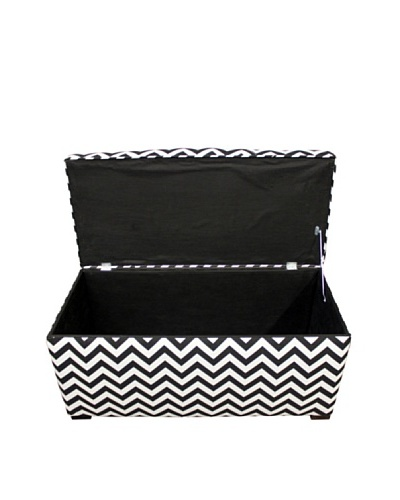 Sole Designs Angela Zig-Zag Storage Trunk, Black/White