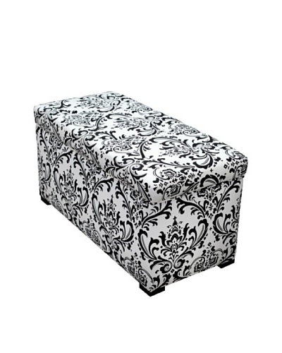 Sole Designs Angela Traditions Storage Trunk, Black/White