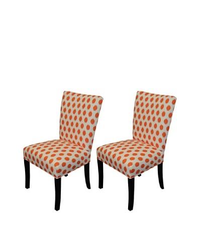 Sole Designs Bella Jojo Wingback Dining Chair, Tangelo