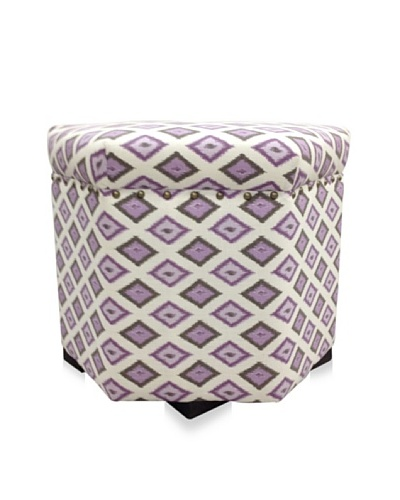 Sole Designs Diamond Hex Ottoman, Lavender/Purple