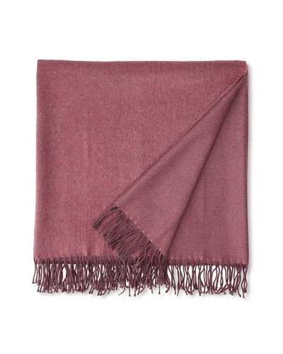 Somma Kiev Lambswool Throw, Burgundy, 51 x 67