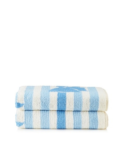 Sonia Rykiel Comme un Cadeau Hand Towel, Bleu Tendre, 20 x 40