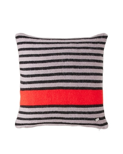 Sonia Rykiel Maison Bouquet Rouge Knitted Wool & Mohair Pillow, Scarlet