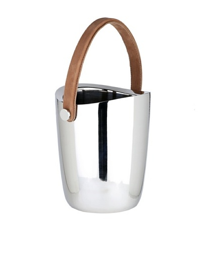 Sidney Marcus Boca Wine Cooler with Leather Handle, Silver