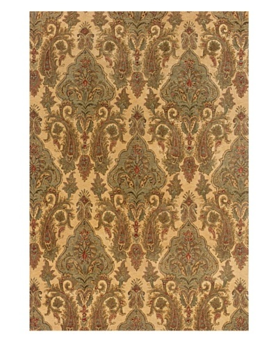 Langley Handspun Wool Rug [Cream/Green]