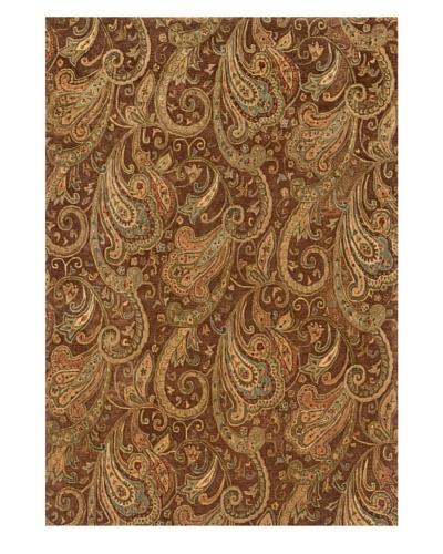 Langley Handspun Wool Rug [Brown/Cream/Green]