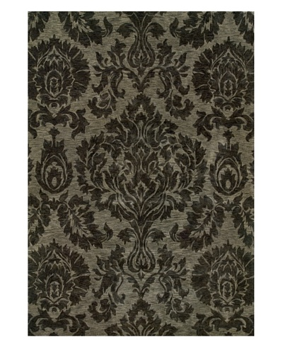 Langley Handspun Wool Rug [Grey/Charcoal]