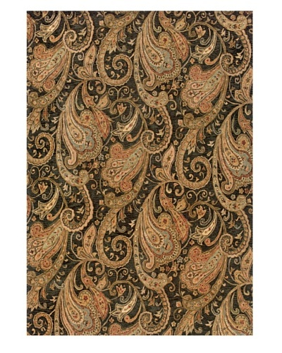 Langley Handspun Wool Rug [Black/Cinnamon]
