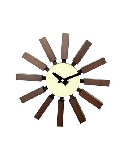 George Nelson Block Clock, Walnut
