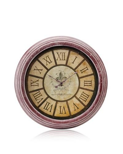 A&B Home Fleur-de-Lis Roman Numeral Wall Clock