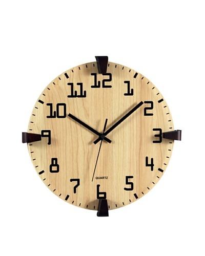 Verichron Organic Clock, Natural/Black