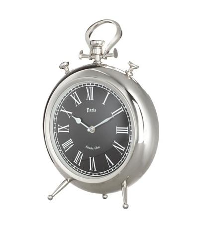 Arty Silverblack Table Clock
