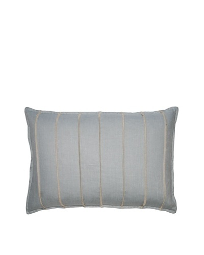 Square Feathers Blue Bands Boudoir Pillow