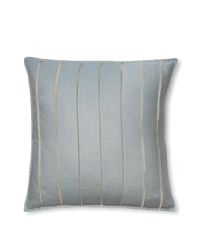 Square Feathers Blue Bands Square Pillow