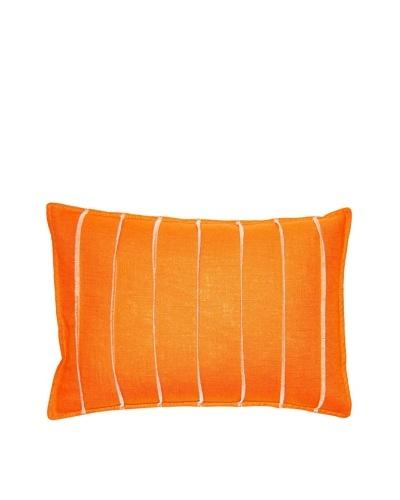 Square Feathers Orange Bands Boudoir Pillow