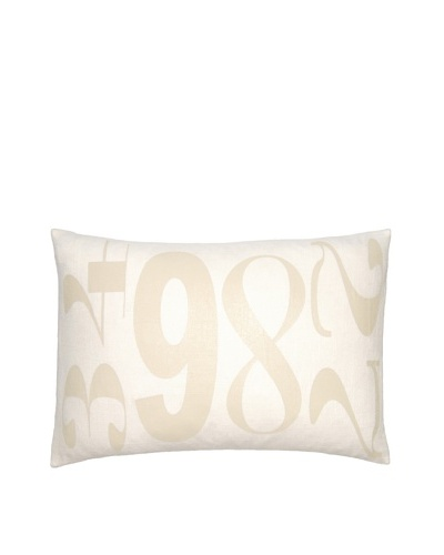 Square Feathers Numbers Boudoir Pillow