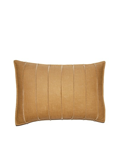 Square Feathers Gold Bands Boudoir Pillow