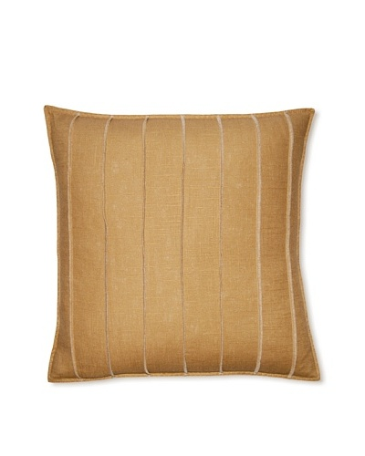 Square Feathers Gold Bands Square Pillow