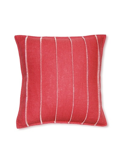 Square Feathers Dark Rose Bands Square Pillow