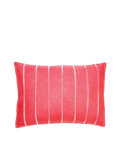 Square Feathers Dark Rose Bands Boudoir Pillow