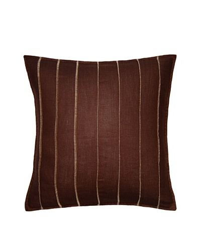 Square Feathers Brown Bands Square Pillow