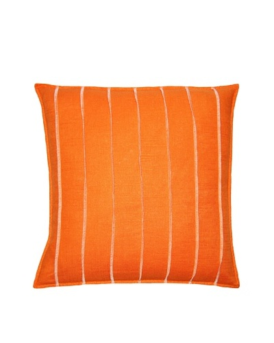 Square Feathers Orange Bands Square Pillow