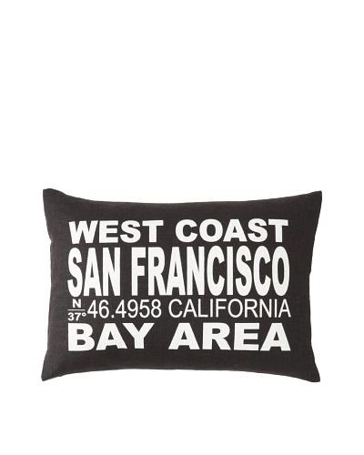 Square Feathers City Signs San Francisco Boudoir Pillow