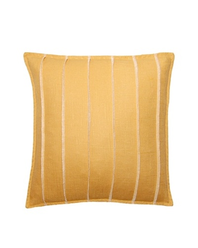 Square Feathers Yellow Bands Square Pillow