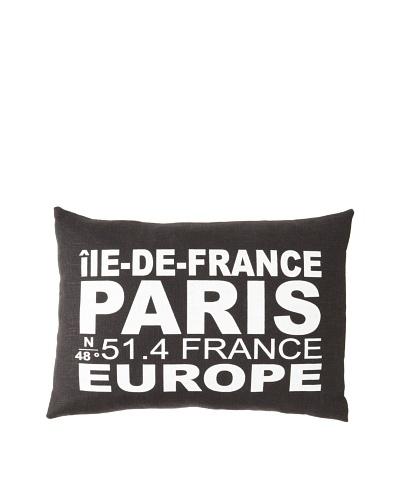 Square Feathers City Signs Paris Boudoir Pillow