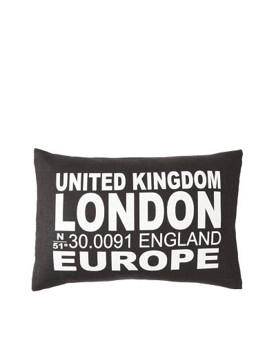 Square Feathers City Signs London Boudoir Pillow