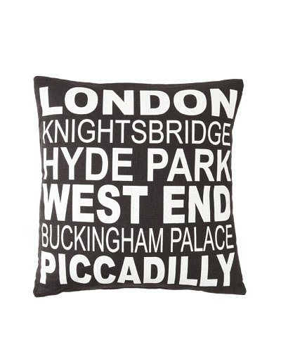 Square Feathers City Signs London Square Pillow