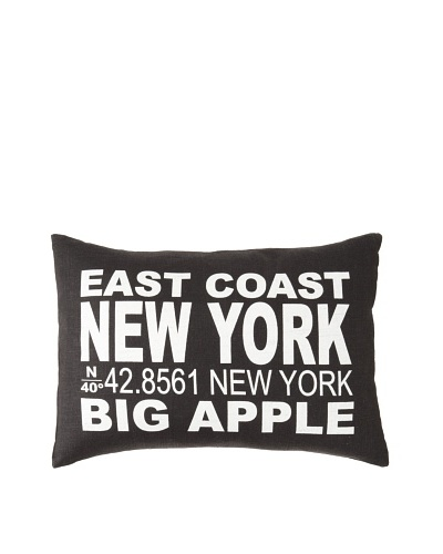 Square Feathers City Signs New York Boudoir Pillow