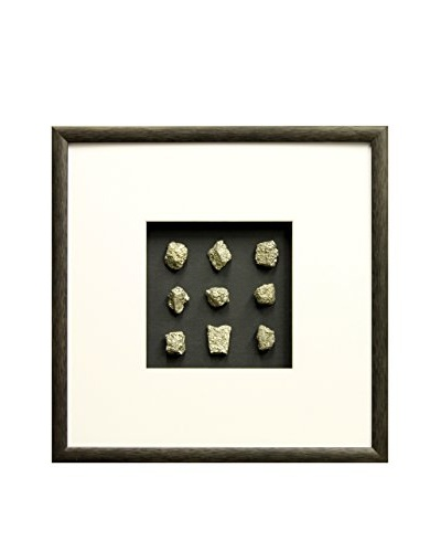 Star Creations Shadowbox of Pyrite Stones